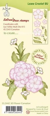 LeCrea - Clear stamp 3D Flower Carnation 55.5442