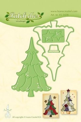 LeCrea – Lea'bilitie Patch die Christmas tree snij, embossing mal 45.5428