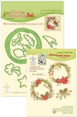 LeCrea – Lea'bilitie Set met Cont.mal, clearstamp Chr.wreath 45.5398