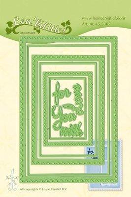 LeCrea – Lea'bilitie Postage stamp frames snij en emb. mal 45.5367