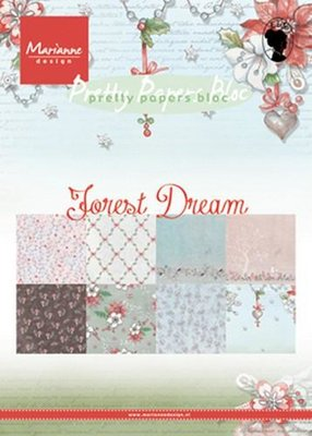 PK9158 – Marianne Design – Paper pad Forest Dream A5