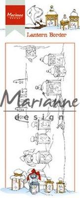 HT1640 Marianne Design – Clear Stamp Hetty's lantaarn border 7,5 x 18,5 cm