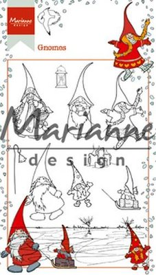 HT1639 Marianne Design – Clear Stamp Hetty's Kabouters 10,5 x 18,5 cm