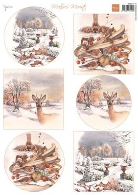 MB0177 Marianne Design – 3D Knipvel – Mattie's mooiste Winter 1 21 x 29,7 cm