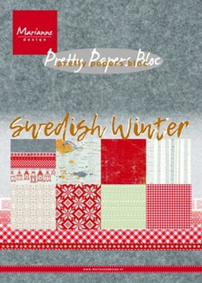 PK9159 Marianne Design – Paper pad – Swedish winter A5 15 x 21 cm