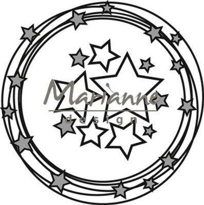 CR1447 Marianne Design – Craftables – Cirkel & Sterren 8 x 16 cm