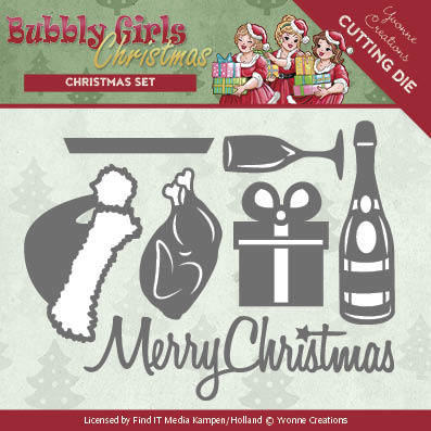 YCD10152 – Dies - Yvonne Creations - Bubbly Girls Christmas - Christmas Set