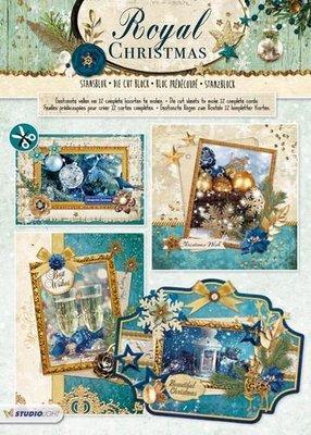 Studio Light Die cut blocs A4 12 vel Royal Christmas 71