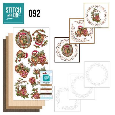 Stitch and Do 92 - Christmas Owls