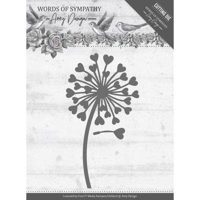 ADD10155 – Dies - Amy Design - Words of Sympathy - Sympathy Flower