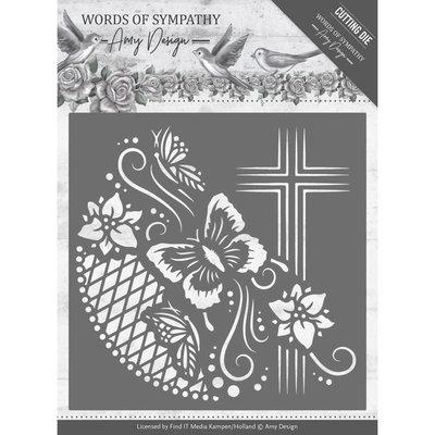 ADD10154 – Dies - Amy Design - Words of Sympathy - Cross Frame