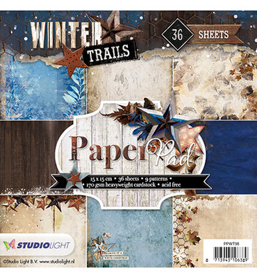 Paper Pad Blok 170 gr. 15x15 cm, Winter Trails nr.98