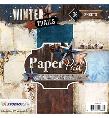 Paper Pad Blok 170 gr. 15x15 cm, Winter Trails nr.97