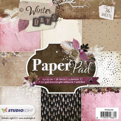 Studio Light Paper pad 36 vel Winter Days nr 100 PPWD100 15 x 15cm