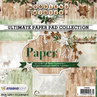 Studio Light Paper pad 36 vel 12 designs nr 91 PPWW91 15x15cm