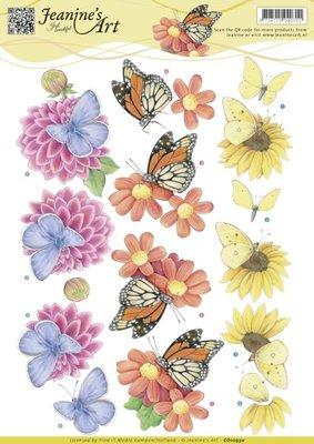 CD10930 – 3D Knipvel - Jeanine's Art - Butterflies