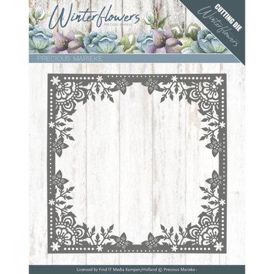 PM10138 – Dies - Precious Marieke - Winter Flowers - Ice Flower Frame