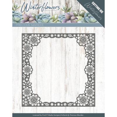 PM10139 – Dies - Precious Marieke - Winter Flowers - Snowflake flower frame