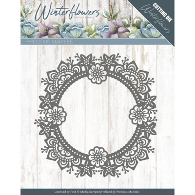 PM10141 – Dies - Precious Marieke - Winter Flowers - Ice flower circle