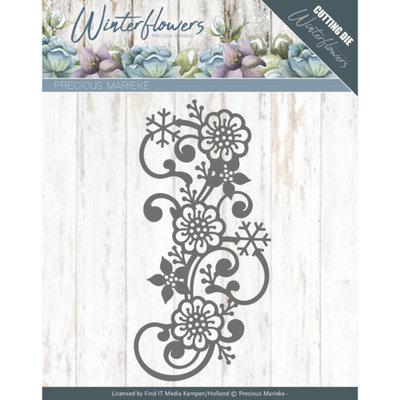 PM10142 – Dies - Precious Marieke - Winter Flowers - Snowflake flower swirl