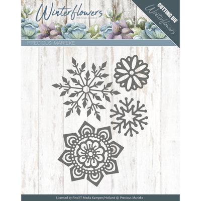 PM10143 – Dies - Precious Marieke - Winter Flowers - Ice flowers