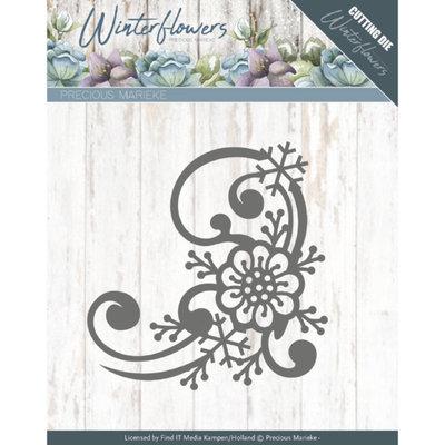 PM10144 – Dies - Precious Marieke - Winter Flowers - Snowflake flower corner