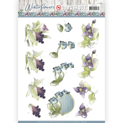 SB10299 -3D Pushout - Precious Marieke - Winter Flowers – Orchids