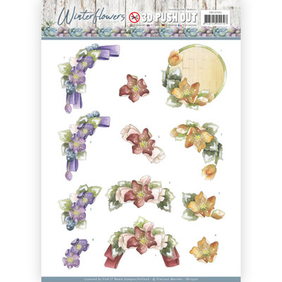 SB10300 – 3D Pushout - Precious Marieke - Winter Flowers – Helleborus