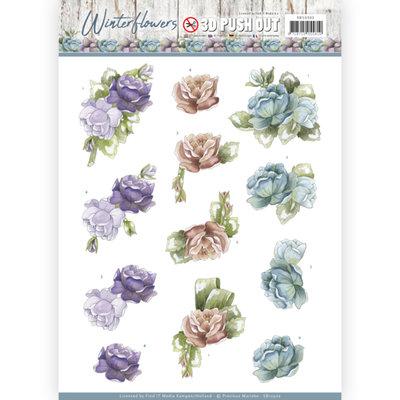 SB10302 – 3D Pushout - Precious Marieke - Winter Flowers – Roses