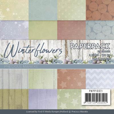 PMPP10021 – Paperpack - Precious Marieke - Winter Flowers