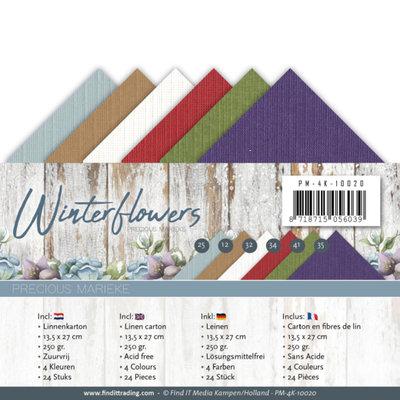 PM-4K-10020 – Linnenpakket - 4K - Precious Marieke - Winter Flowers