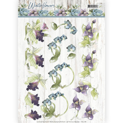 CD11188 – 3D knipvel - Precious Marieke - Winter Flowers – Orchids