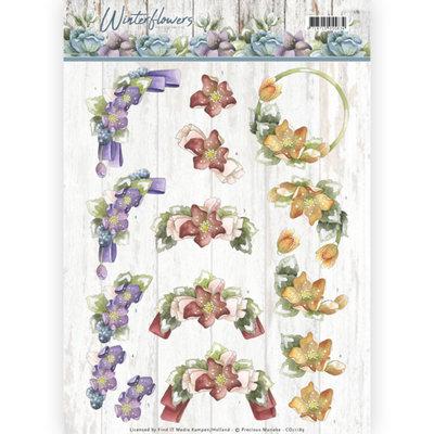 CD11189 – 3D knipvel - Precious Marieke - Winter Flowers – Helleborus