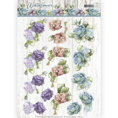 CD11191 – 3D knipvel - Precious Marieke - Winter Flowers – Roses