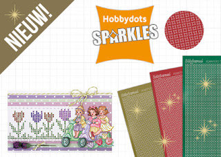 Hobbydots stickervel Sparkles 01 - Complete serie (24 kleuren)
