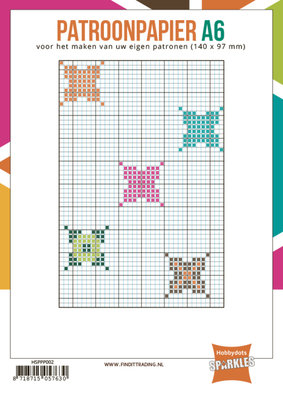 Hobbydots - Sparkles - Patroonpapier - A6 - 24 vel