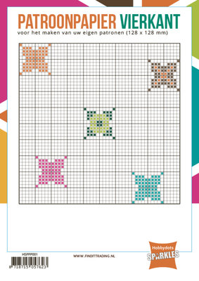 Hobbydots - Sparkles - Patroonpapier - Vierkant 12,8x12,8cm - 24 vel