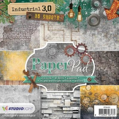 Studio Light Paper pad 36 vel Industrial 3.0 nr 101 PPIN101 15x15cm
