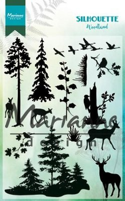 Marianne Design Clear Stamp Silhouette woodland CS1014110 x 150 mm