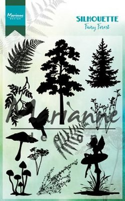 Marianne Design Clear Stamp Silhouette fairy forest CS1013110 x 150 mm
