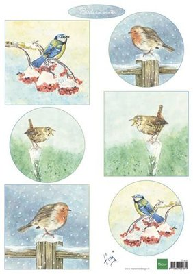 Marianne Design Decoupage Tiny's birds in winter IT605A4