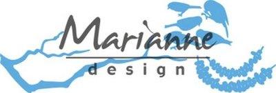 Marianne Design Creatable Tiny's peanut pindaslinger en tak LR0558 116 x 39 mm - 43 x 31 mm