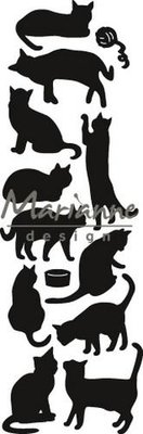 Marianne Design Craftable Punch die Cats CR145127 x 82 mm