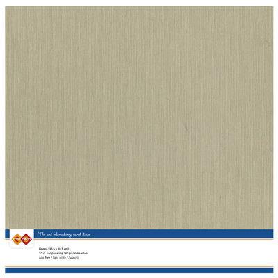 53 – Card Deco Linnenkarton - 30,5 x 30,5 – Taupe – 10 vel