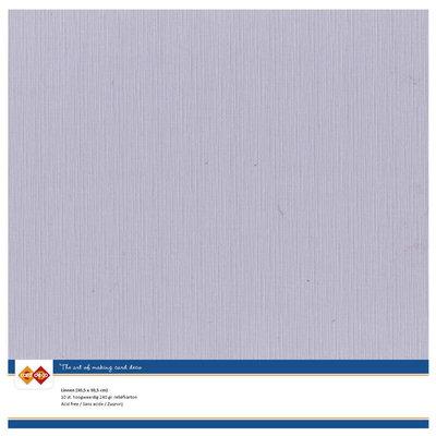 51 – Card Deco Linnenkarton - 30,5 x30,5 – Muisgrijs – 10 vel