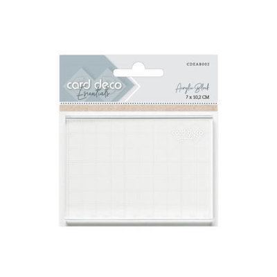 CDEAB002 Card Deco Essentials Acrylic Block 7x10,2cm