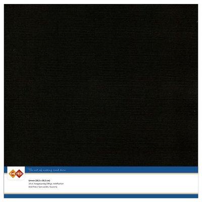 31 – Card Deco Linnenkarton - 30.5 x 30.5 – Zwart – 10 vel