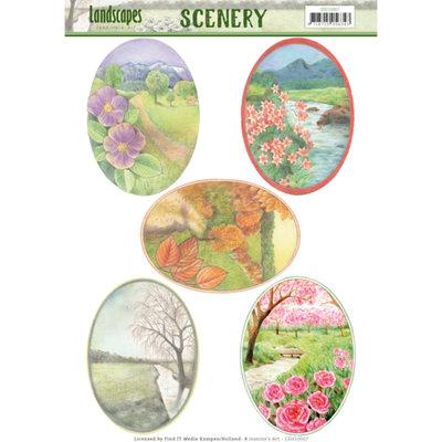 CDS10007 – Die Cut Topper - Scenery - Jeanine's Art - Landscapes - Landscape Squaree