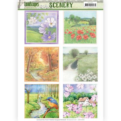 CDS10005 – Die Cut Topper - Scenery - Jeanine's Art - Landscapes - Landscape Squaree
