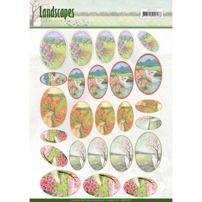 JAMIN10003 – Scenery mini knipvellen - Jeanine's Art - Landscapes - ovaal